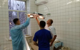 The departments of urology and gynecology of Kiev 6 city hospital have been updated with good equipment.