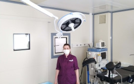 Installation of a 500 LED lamp